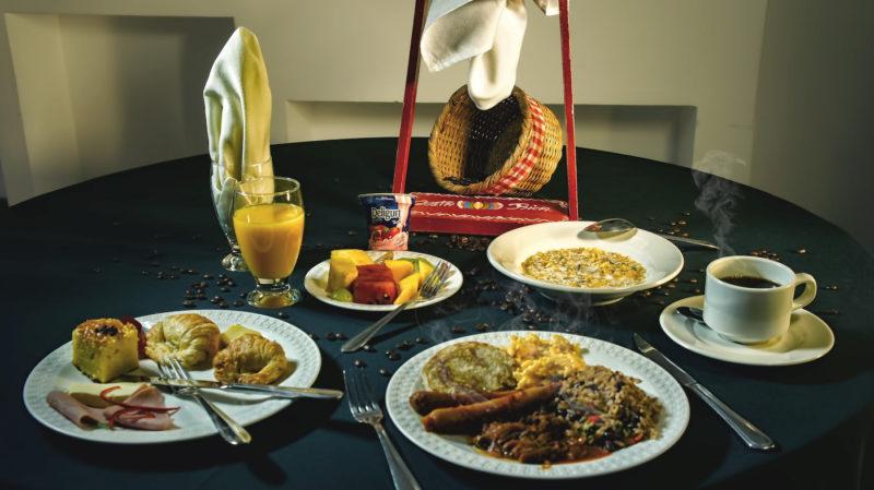 Traditional Costa Rican breakfast